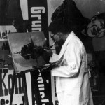Hans WOJTASZYK dans son atelier