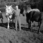 Helmuth et ses chevaux en 1946