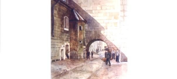 Aquarelle H.Müller Citadelle 1945-1946 (11)